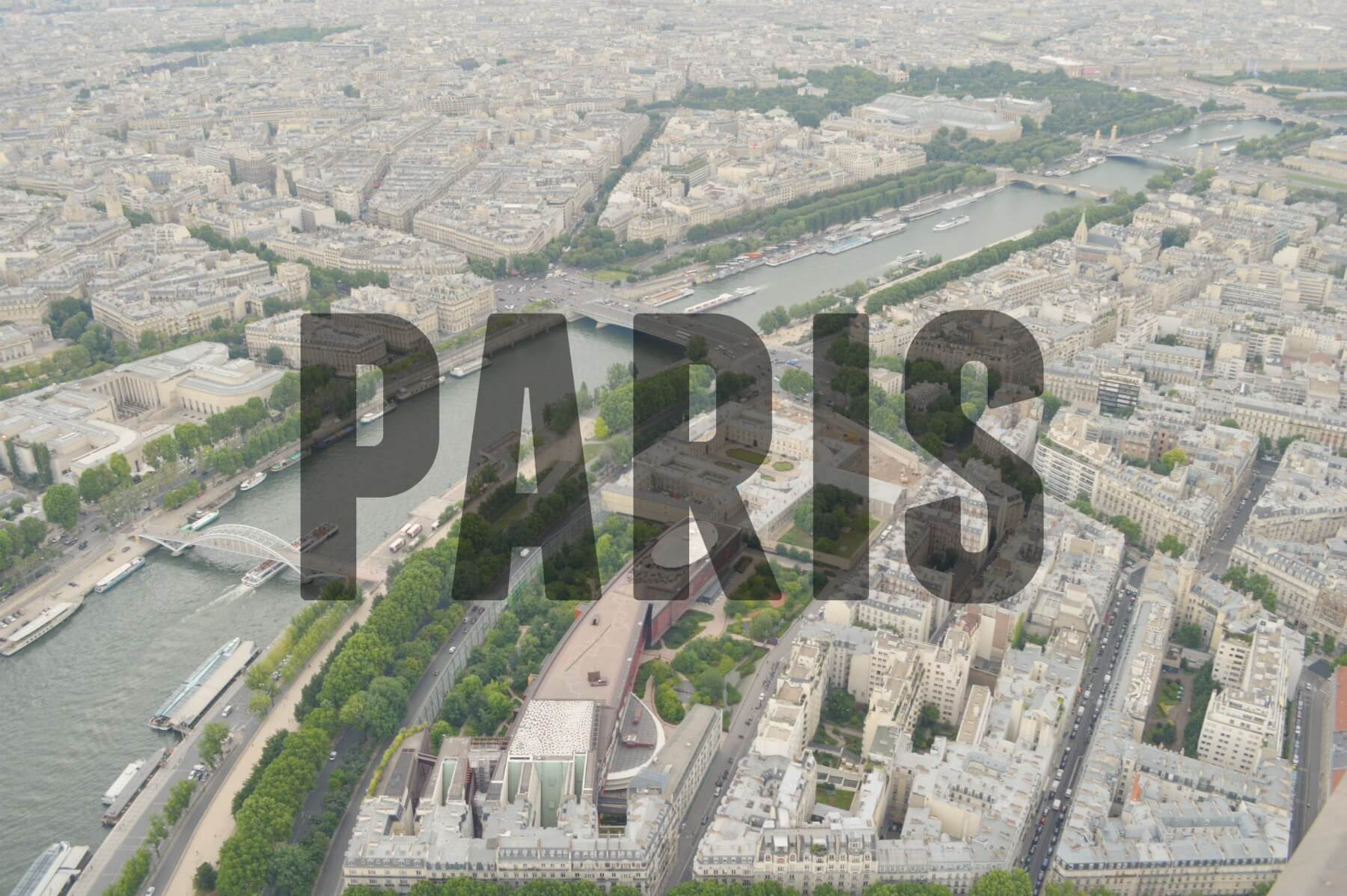'PARIS' (View from Eiffel Tower)