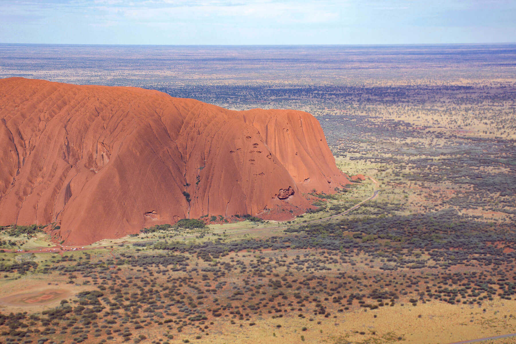 Red Uluru from the Air