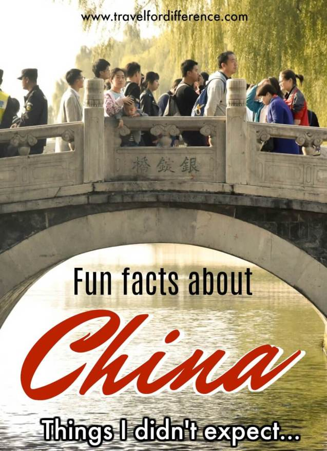 Fun facts about China - Things I didn't expect