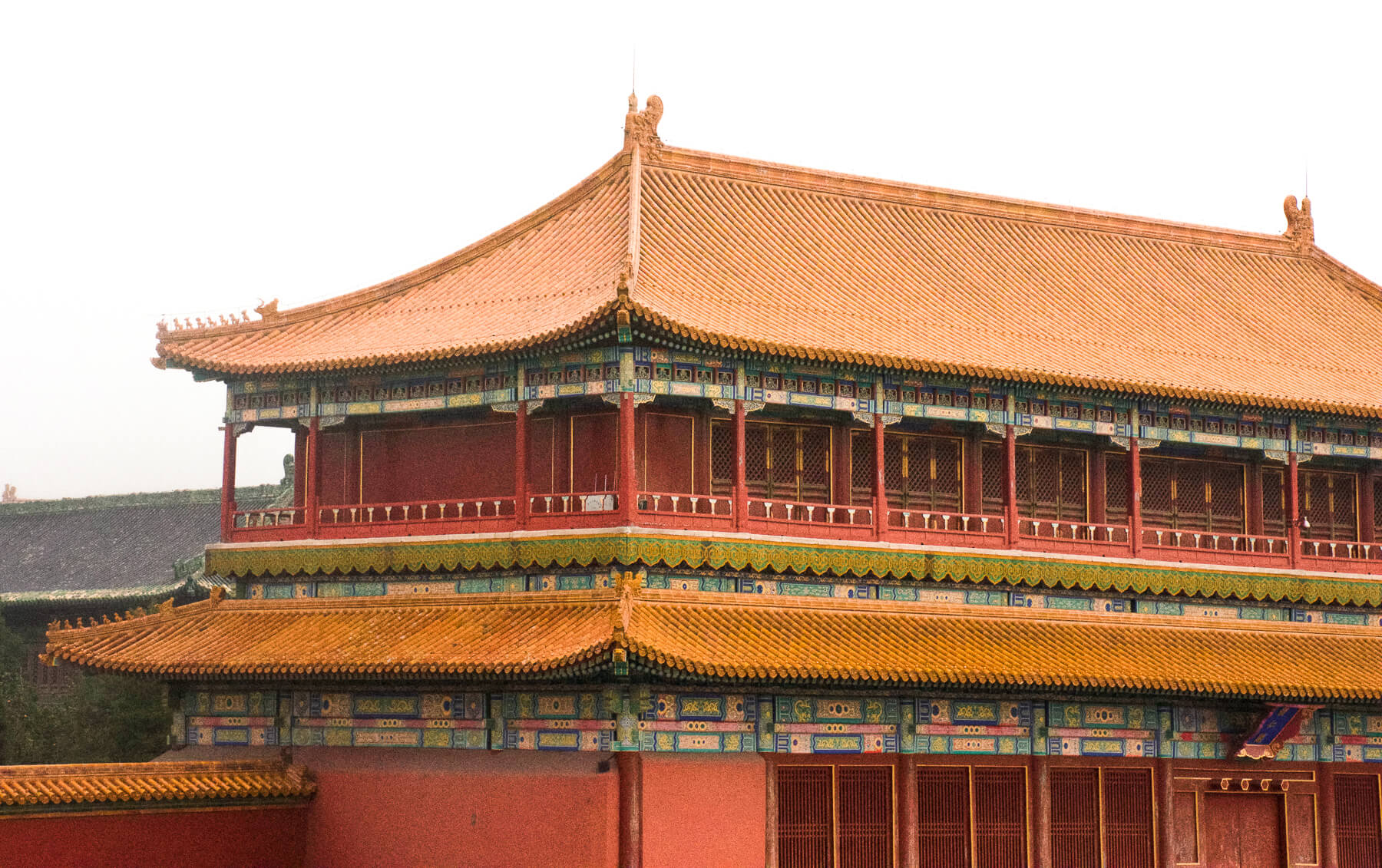 Traditional Chinese Building in the Emperors Palace of the Forbidden City