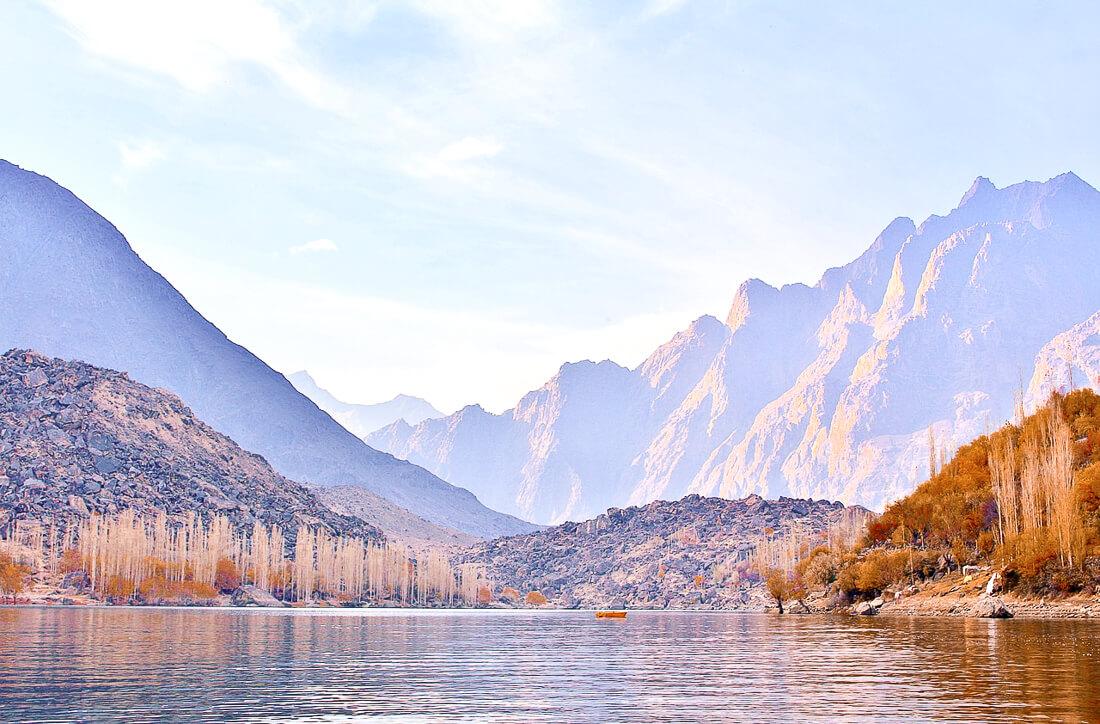 Mountain Ranges behind Upper Kuchara Lake in Pakistan