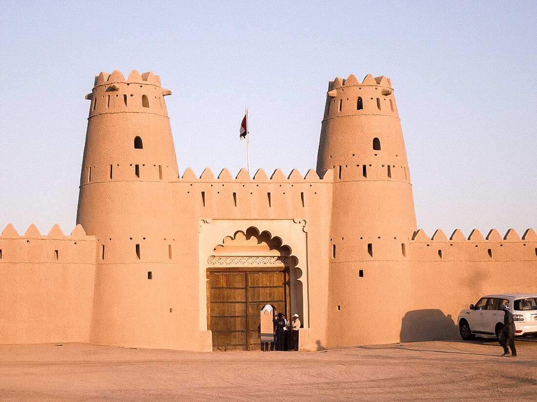 Front entrance of Al Jahili fort in Al Ain