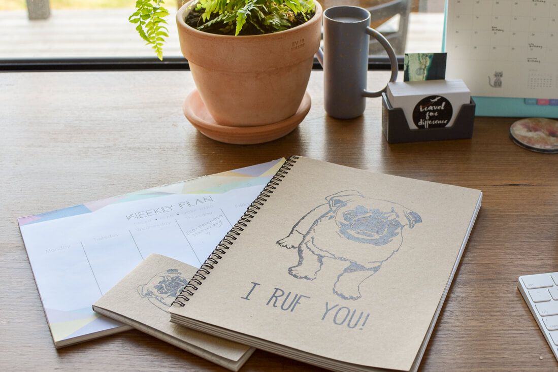 Eco friendly stationary (books, notepads and planners) from Knick Knack Collections
