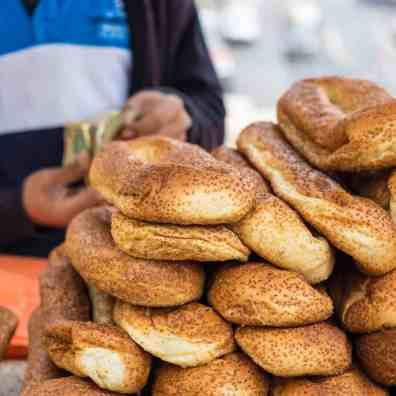 Bread stand in Jerusalem