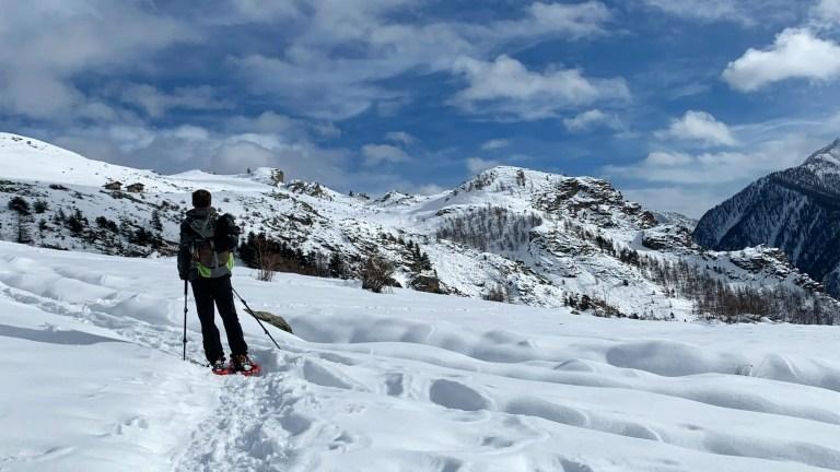 Escursione invernale a Punta della Madonnina, Val Maira