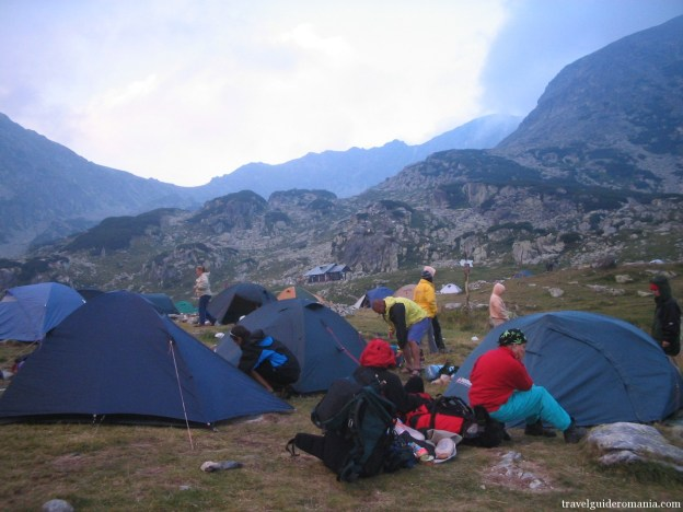 camping site at Bucura lake in Retezat mountains