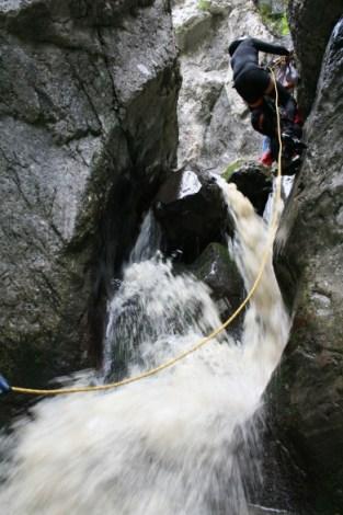 canyoning at Tasna canyon - Herculane area