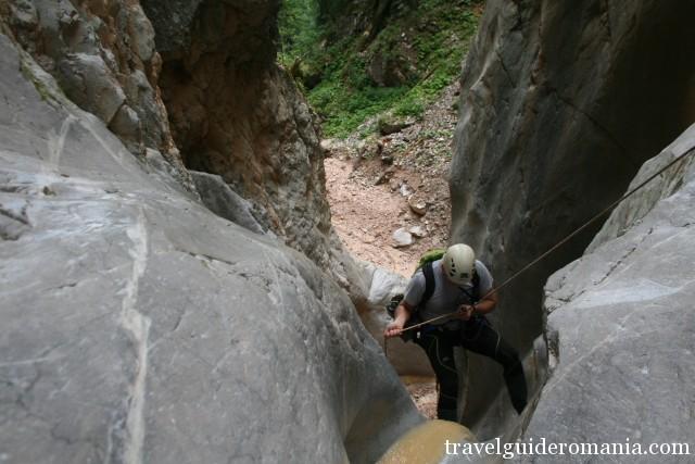 canyoning in Apuseni mountains
