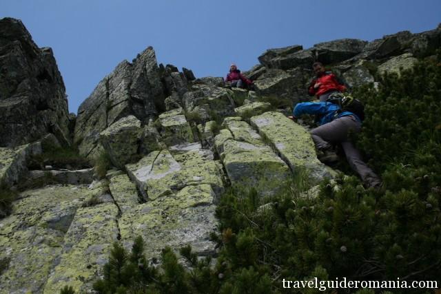climbing at Close gates ridge in Retezat mountains