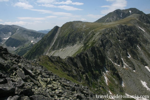 main ridge of Retezat mountains