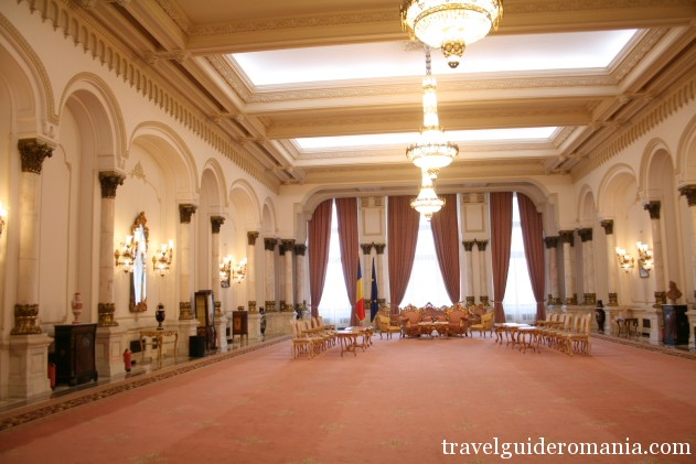 reception room at Palace of Parliament