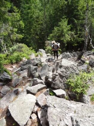 touristic route at Ruginoasa Hole