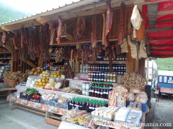 traditional romanian food - at Balea lake - Fagaras Mountains