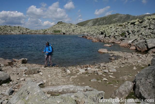 Mandra lake - highest situated lake in the Parang Mountains