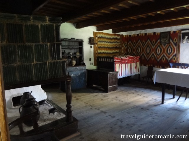 Indoor of a traditional wooden house - Romania
