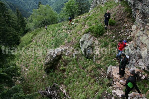 Track in Apuseni mountains - Bohodei waterfall track