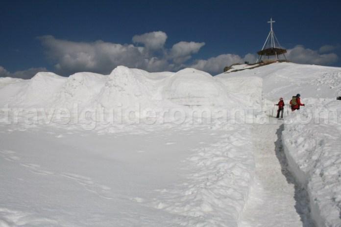 Balea Ice Hotel in Fagaras Mountains