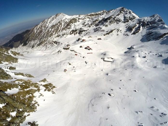 Balea glacier cirque in the central side of Fagaras Mountains