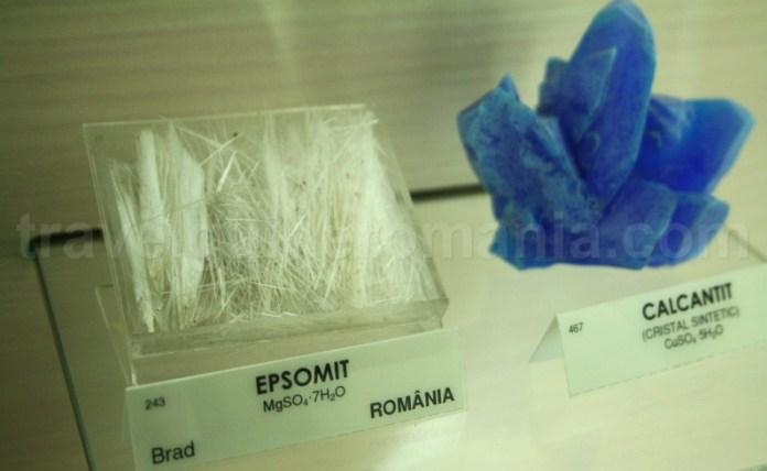 Epsomit si calcantit - Muzeul Aurului - Brad