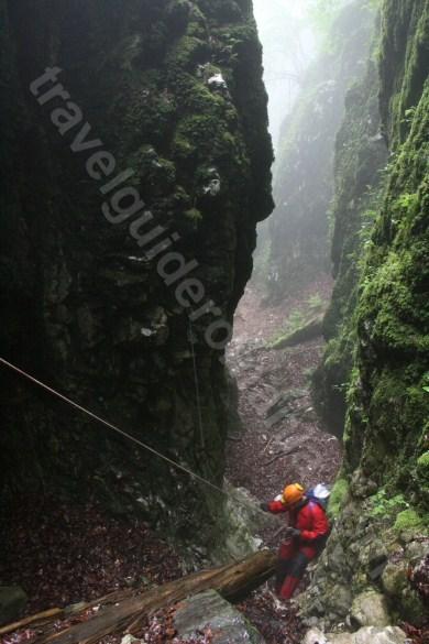 A doua verticala a canionului Cheia Rea - calator in Bihor
