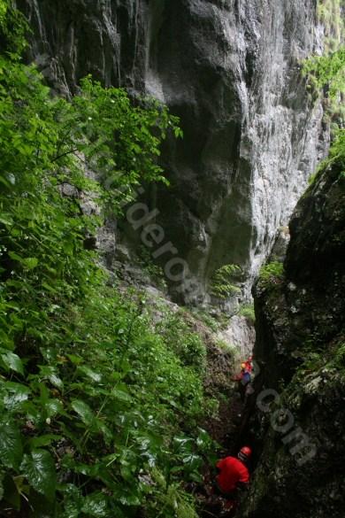 A patra verticala - Canionul Cheia Rea