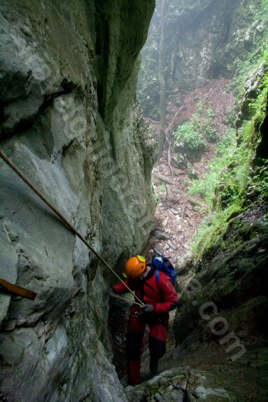 A treia verticala - canionul Cheia Rea - Muntii Apuseni