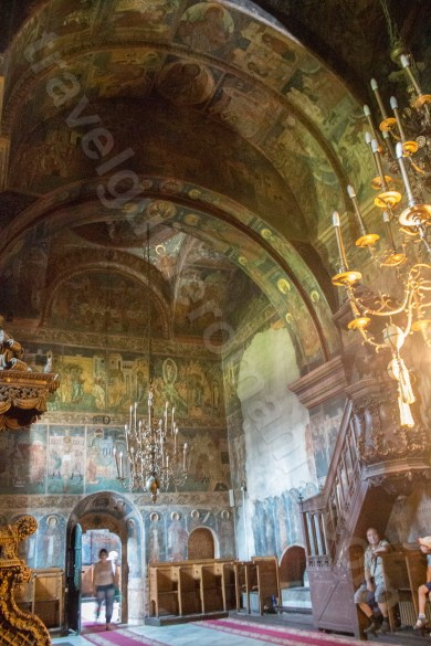 The interior painting of the church built by Stefan cel Mare