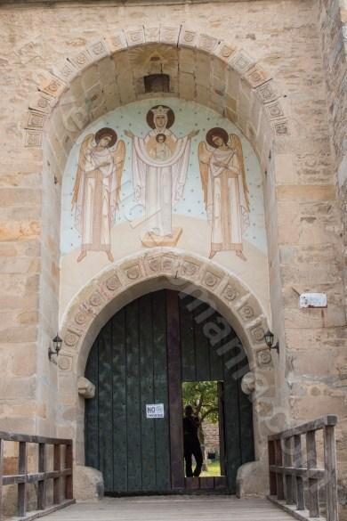 Poarta de acces in incinta Manastirii Dragomirna
