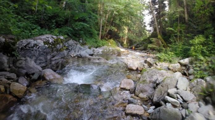 Intrarea in Canionul Valea Marii - Muntii Retezat