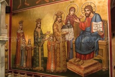Pictura interioara in Manastirea Putna - Bucovina