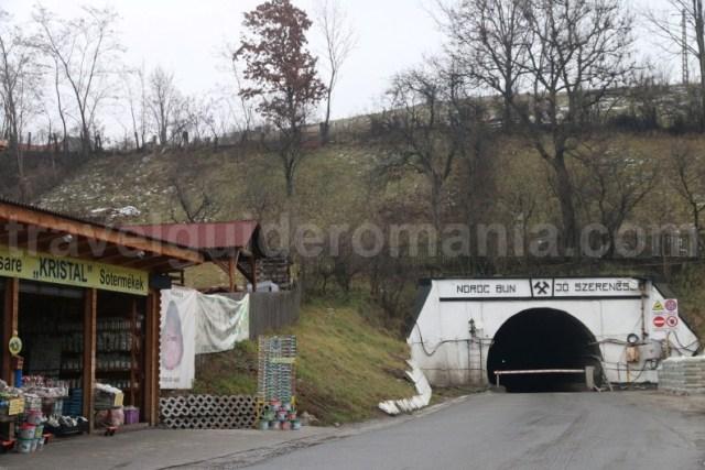 Intrarea minei Salina Praid - localitatea Praid