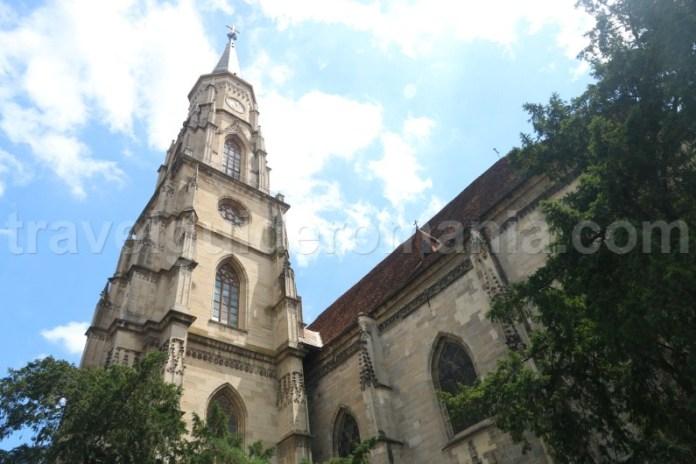 Turnul bisericii gotice din Cluj Napoca - Sf Mihail