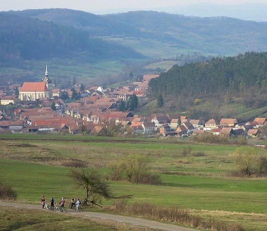 biserica fortificata saschiz traseu bicicleta transilvania