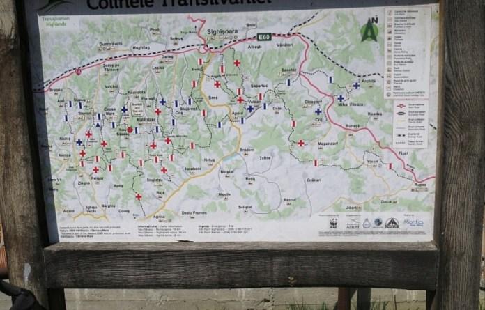 marcaje turistice sate sasesti colinele transilvaniei