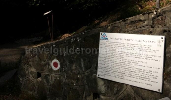 intrare canionul valea lui stan fagaras