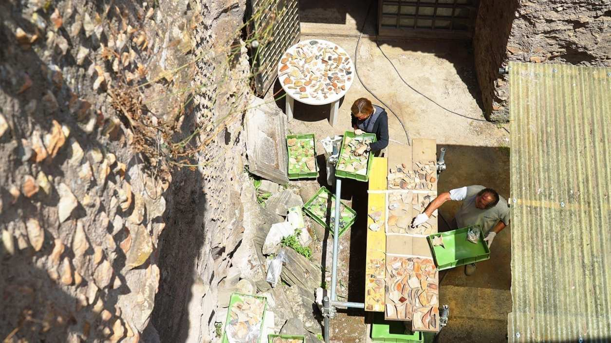 excavations to clear the Roman Forum