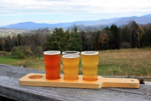 Sample Tray at Trapp Lager Brewing, Stowe, Vermont