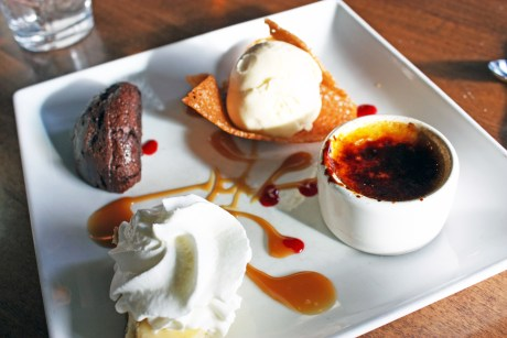 Chef's Dessert Tasting, Cafe Provence, Brandon, Vermont
