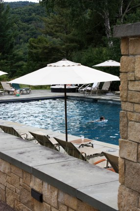 The Pool Area at Topnotch Resort, Stowe, Vermont