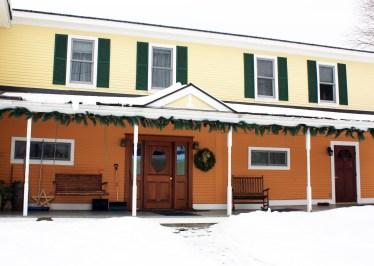 Yellow Farmhouse Inn Entrance, Waitsfield, Vermont