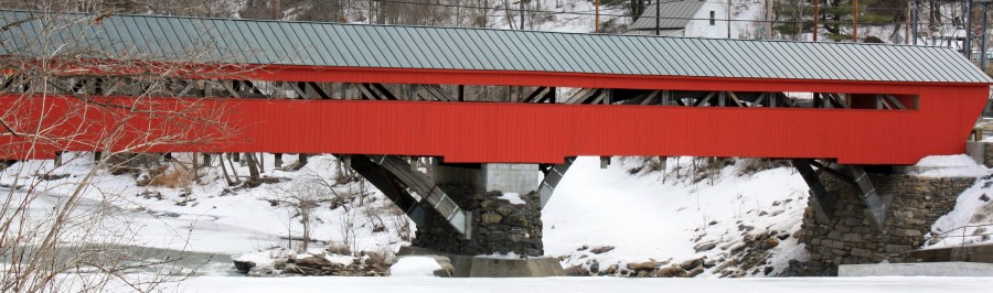Taftsville Bridge - Covered Bridge in Vermont - Visiting Vermont