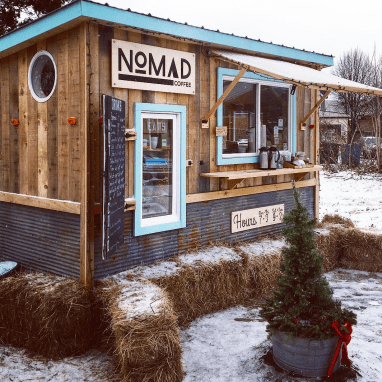 Nomad Coffee Shop in Vermont
