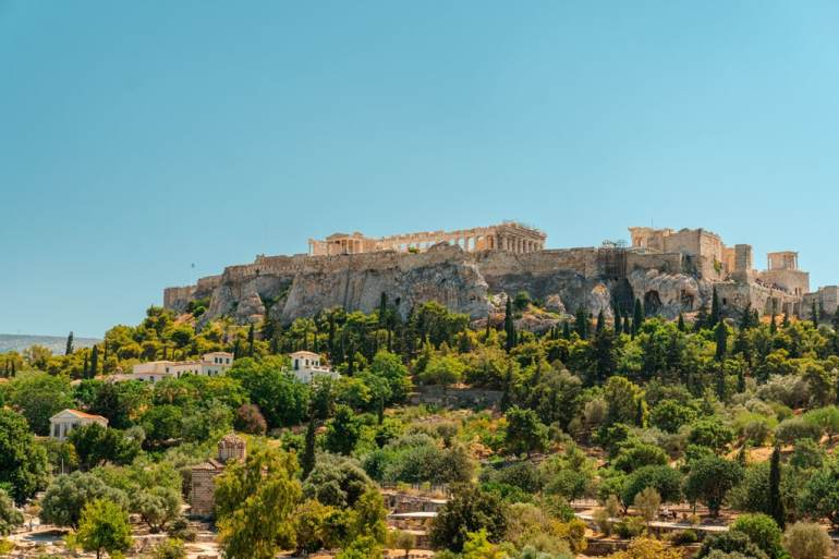 Amazing View to Acropolis of Athens