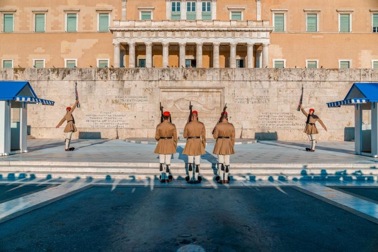 Evzones on Syntagma Square Changing of the Guards