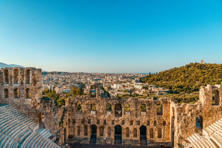 City View from Odeon of Herodes Atticus