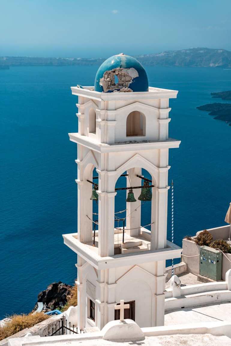 Blue-domed Anastasi Orthodox Church Imerovigli