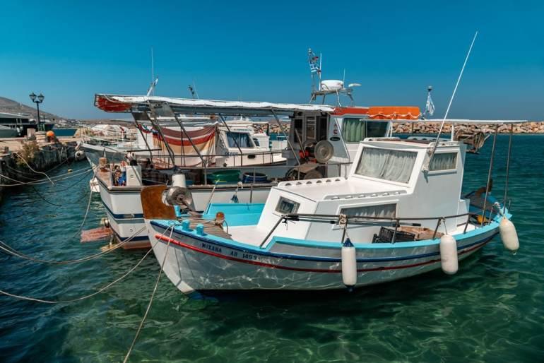 Small Fishing Boats Paros Island