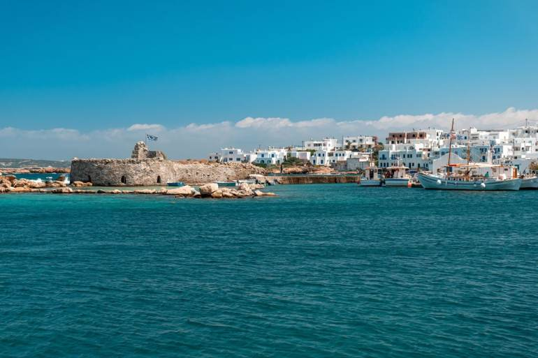 Port of Nuousa Paros Greek Island Hoping