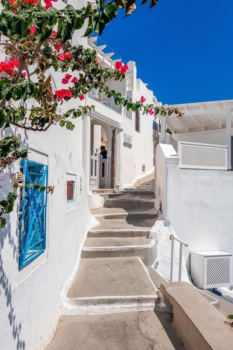 White Street Santorini Greek Island Hopping