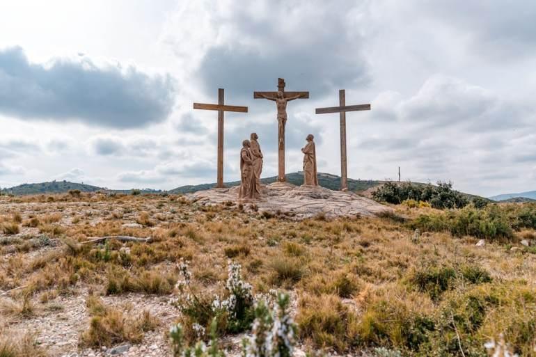 Three Crosses Near Santuario de la Cueva Santa